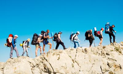 Foto hiken bij GROUPES en INCENTIVES