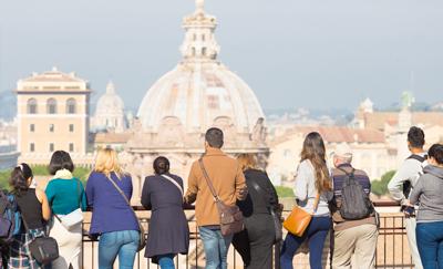 Fotobezoekers Rome bij GROUPES en INCENTIVES